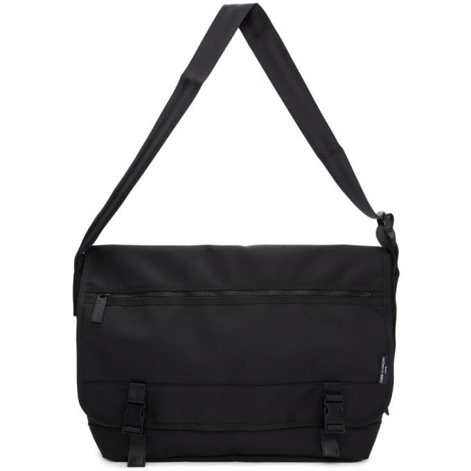 Comme des Garçons Homme Black Nylon Canvas Messenger Bag