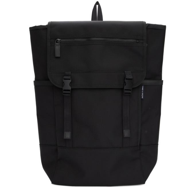 Comme des Garçons Homme Black Nylon Canvas Backpack
