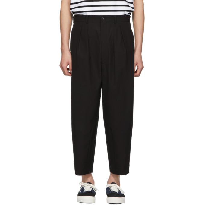 Image of Comme des Garçons Homme Black Canvas Trousers