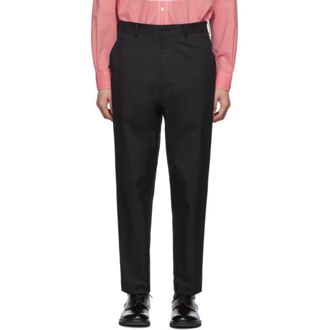 Image of Comme des Garçons Homme Black Cotton Trousers