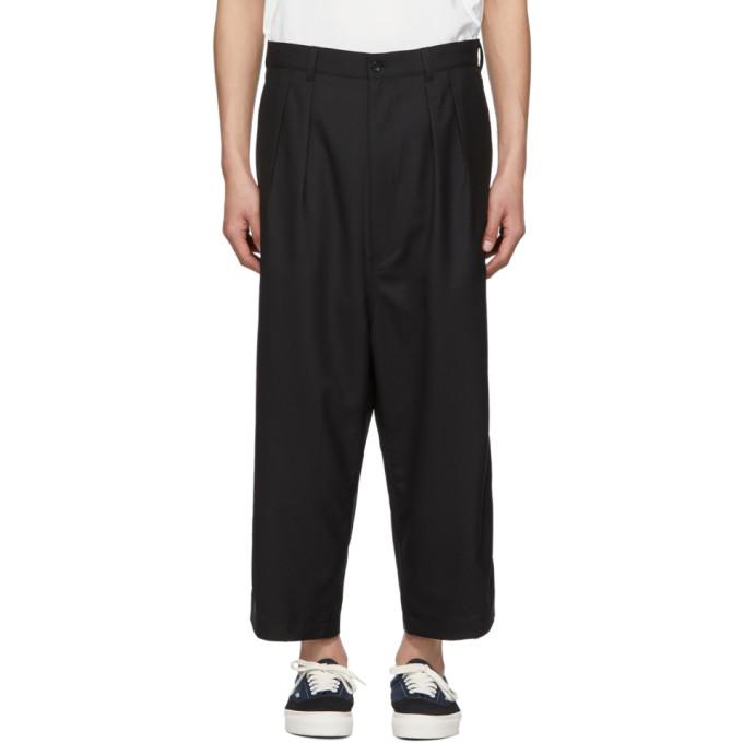 Image of Comme des Garçons Homme Black Cropped Trousers