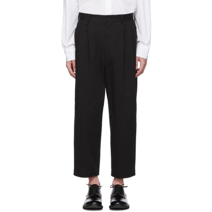 Image of Comme des Garçons Homme Black Cotton Chino Trousers