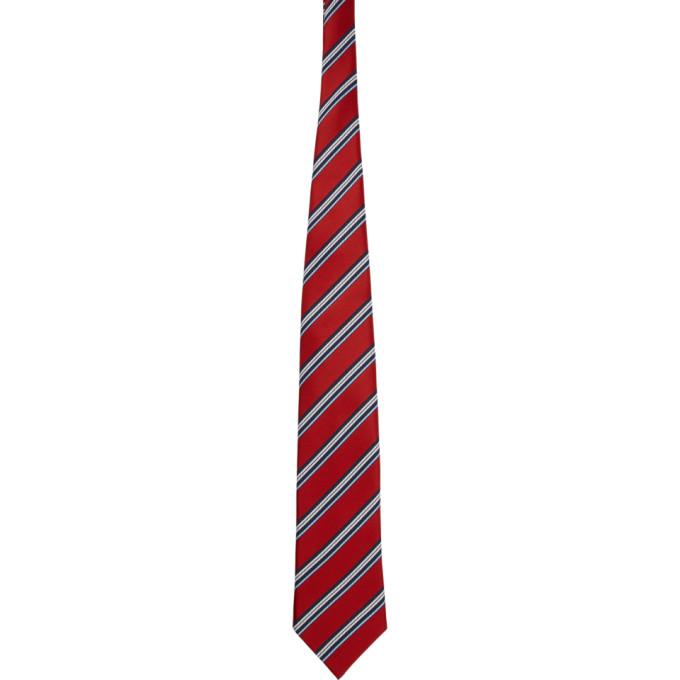 Comme Des Garcons Homme Deux Cravate en soie rouge