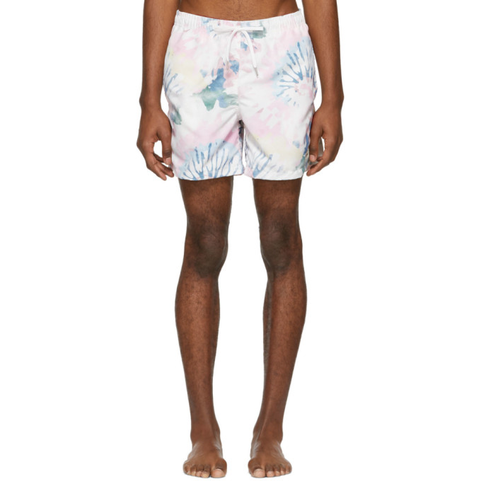 Image of Bather Multicolor Acid Tie-Dye Swim Shorts