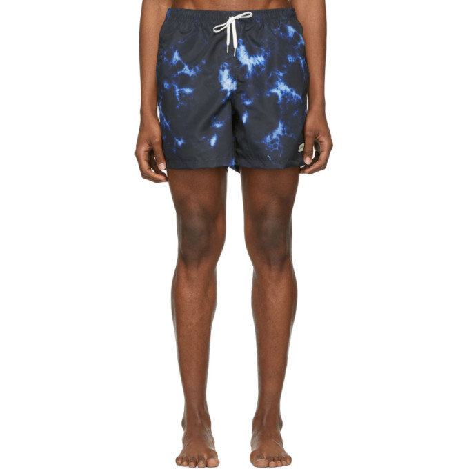 Image of Bather Indigo Shibori Swim Shorts