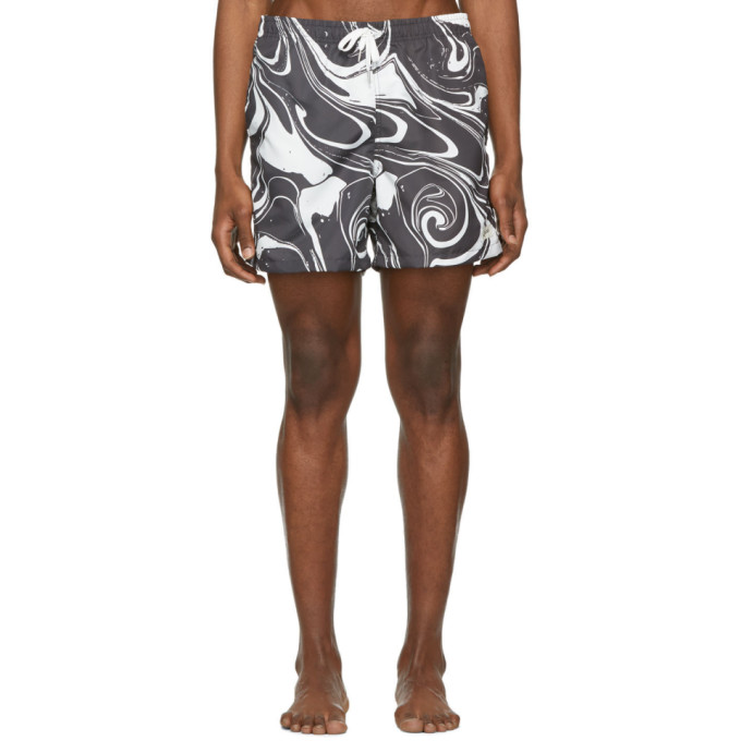 Image of Bather Black & White Marble Swim Shorts