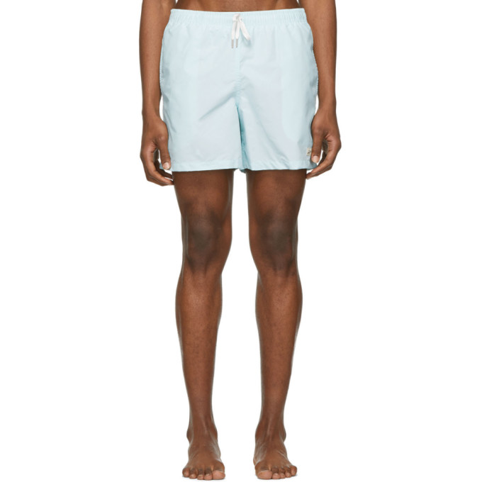 Image of Bather Blue Solid Swim Shorts