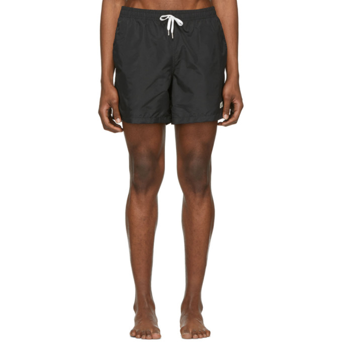 Image of Bather Black Solid Swim Shorts