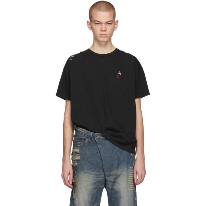 REMI RELIEF Remi Relief Black Skater Emblem T-Shirt