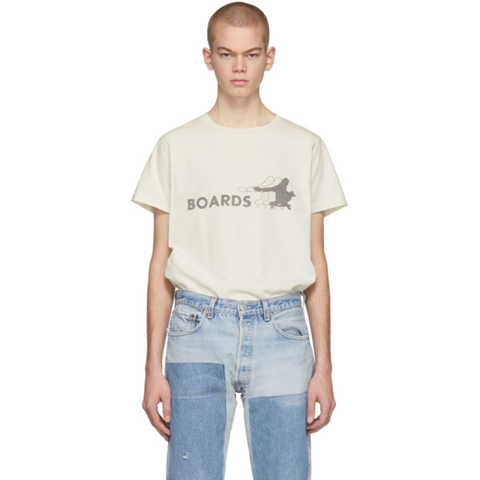REMI RELIEF Remi Relief Off-White Boards T-Shirt in Off White