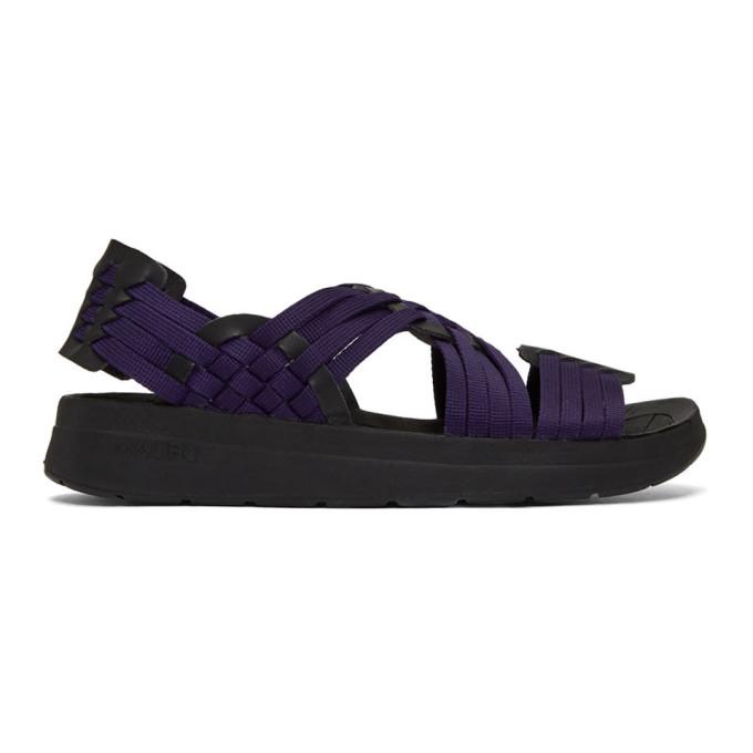 Malibu Sandals Sandales en nylon mauves et noires Canyon