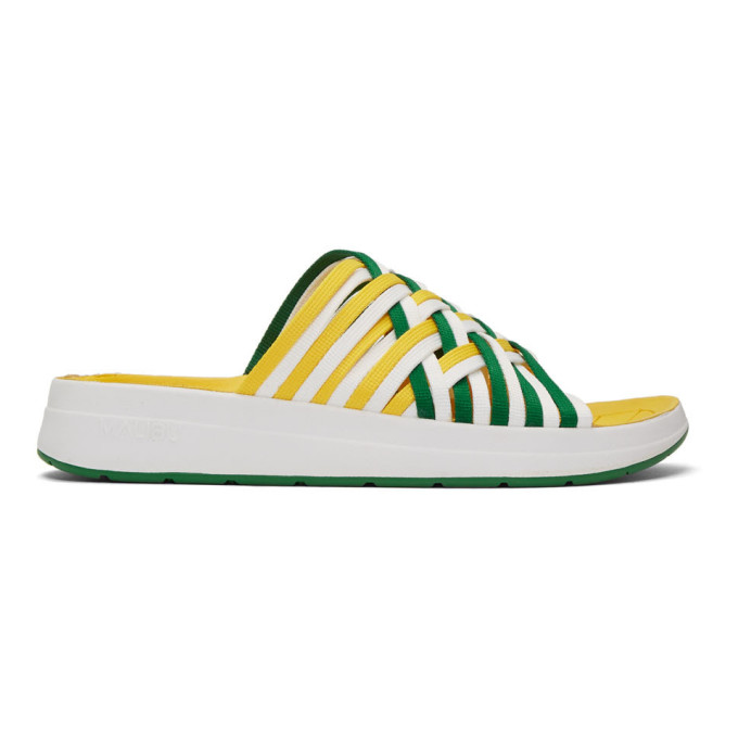 Malibu Sandals Sandales en nylon vertes et blanches Zuma II