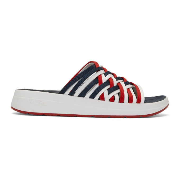 Malibu Sandals Sandales en nylon rouges et blanches Zuma II