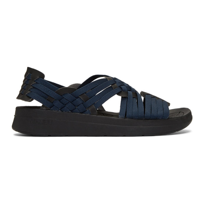 Malibu Sandals Sandales en nylon bleu marine et noires Canyon