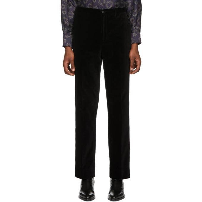 Image of Cobra S.C. SSENSE Exclusive Black Velvet Classics Trousers
