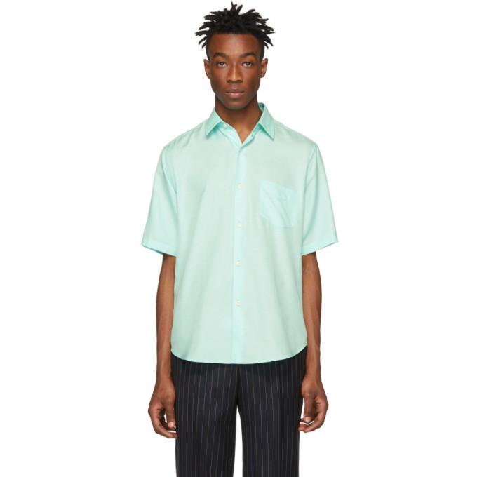 Image of Cobra S.C. Green Silk Short Sleeve Shirt