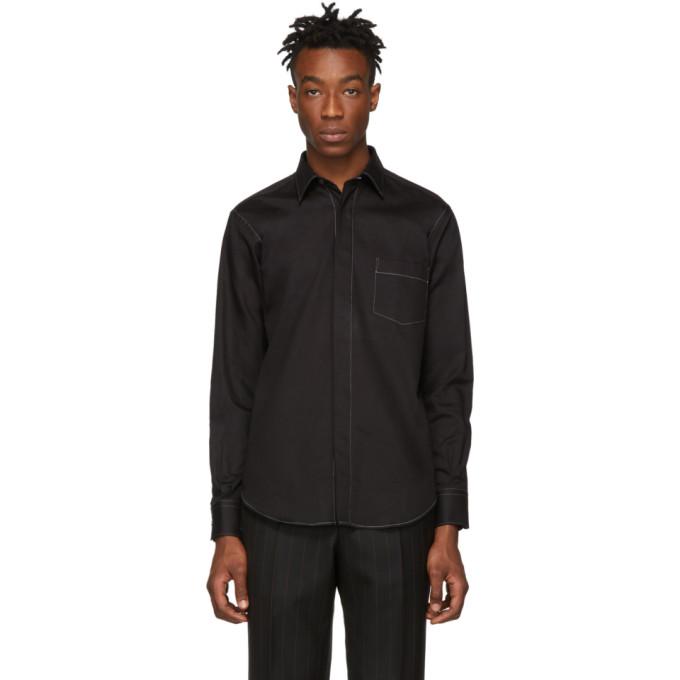 Image of Cobra S.C. Black Hidden Button Shirt