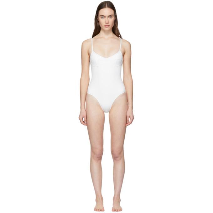 HER LINE Her Line White Sabine One-Piece Swimsuit