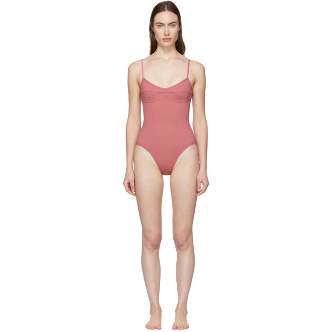 HER LINE Her Line Pink Sabine One-Piece Swimsuit in Dusted Pink