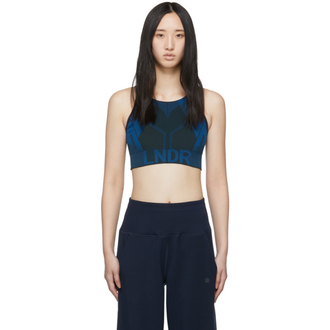 LNDR Blue & Khaki All Seasons Sports Bra