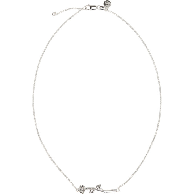 STOLEN GIRLFRIENDS CLUB Stolen Girlfriends Club Silver Rose Bar Necklace