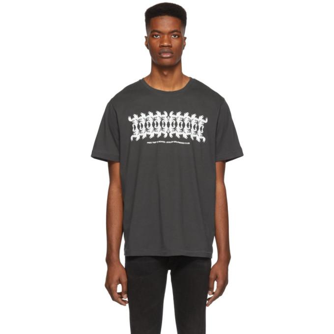 STOLEN GIRLFRIENDS CLUB Stolen Girlfriends Club Grey Scorpion Mirror T-Shirt in Charcoal