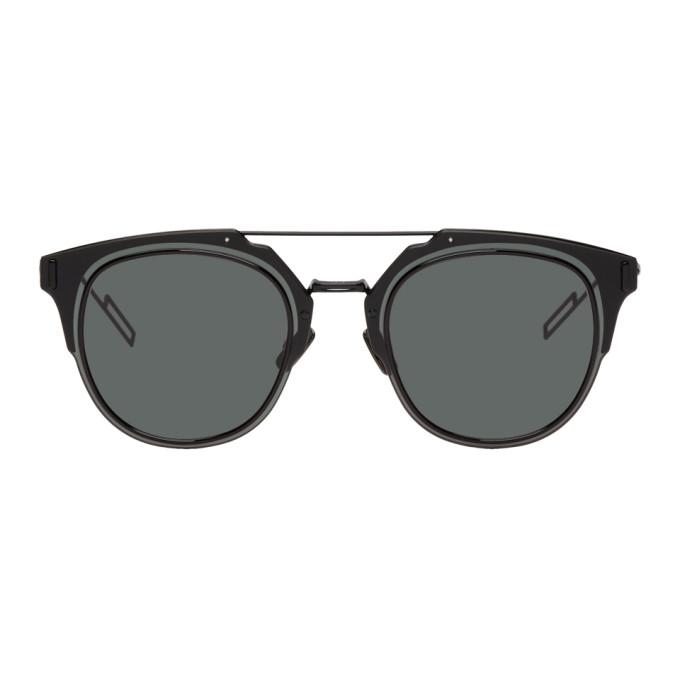 Image of Dior Homme Black Composit 1.0 Sunglasses
