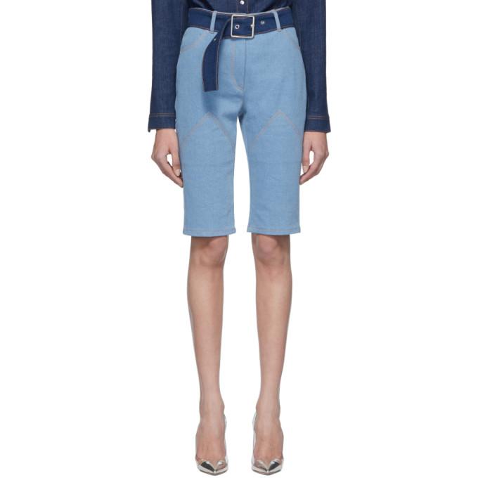 Kreist Short ceinture en denim bleu