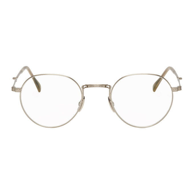 MR. LEIGHT Mr. Leight Silver Hachi C Glasses in Antiqueplgr
