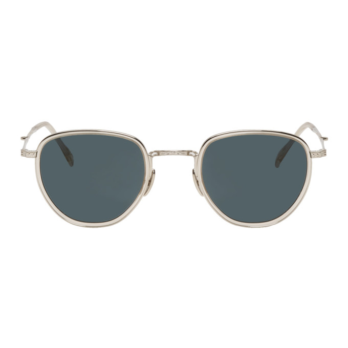 MR. LEIGHT Mr. Leight Beige And Silver Roku S Sunglasses in Beigecrysta