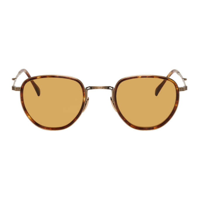 MR. LEIGHT Mr. Leight Tortoiseshell Roku S Sunglasses in Mapleantslv