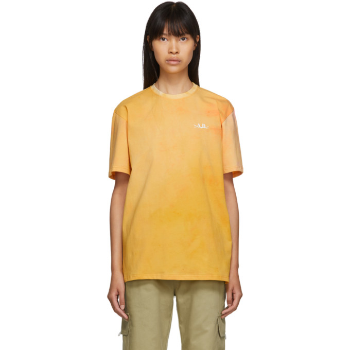 Anton Belinskiy T-shirt a motif tie-dye rose et jaune
