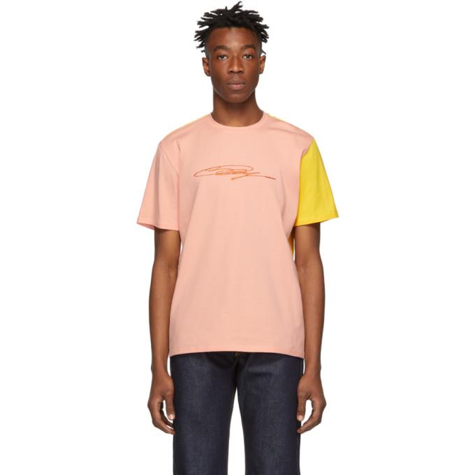 Image of Anton Belinskiy Pink & Yellow Signature T-Shirt