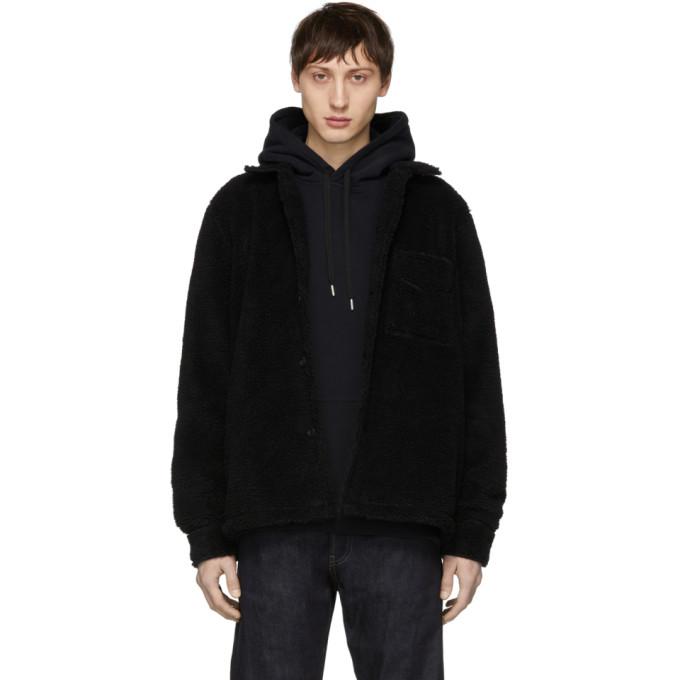 Image of Nudie Jeans Black Recycled Fleece Sten Jacket