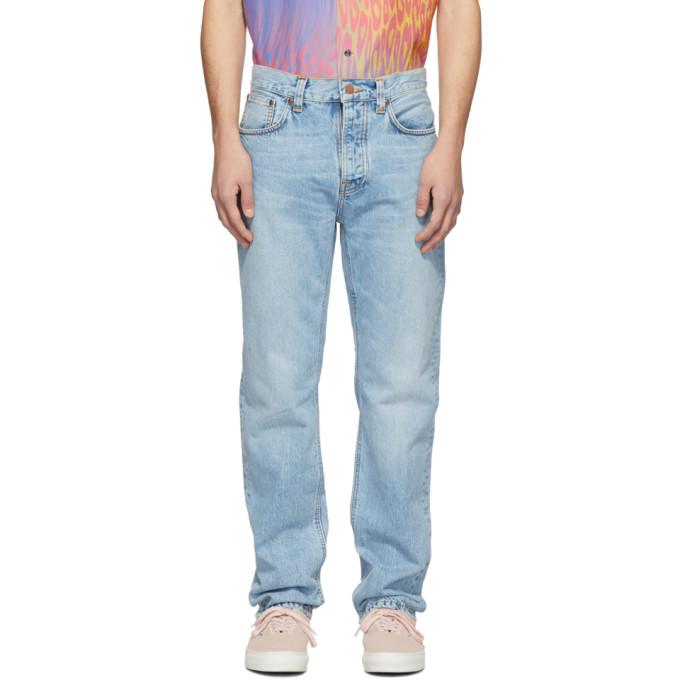 Nudie Jeans Blue Sleepy Sixten Jeans