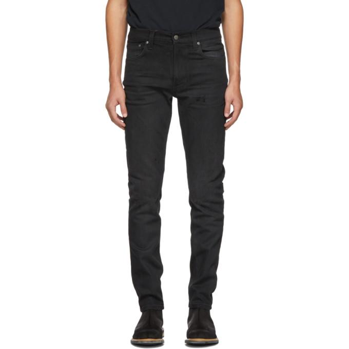 Image of Nudie Jeans Black Lean Dean Jeans