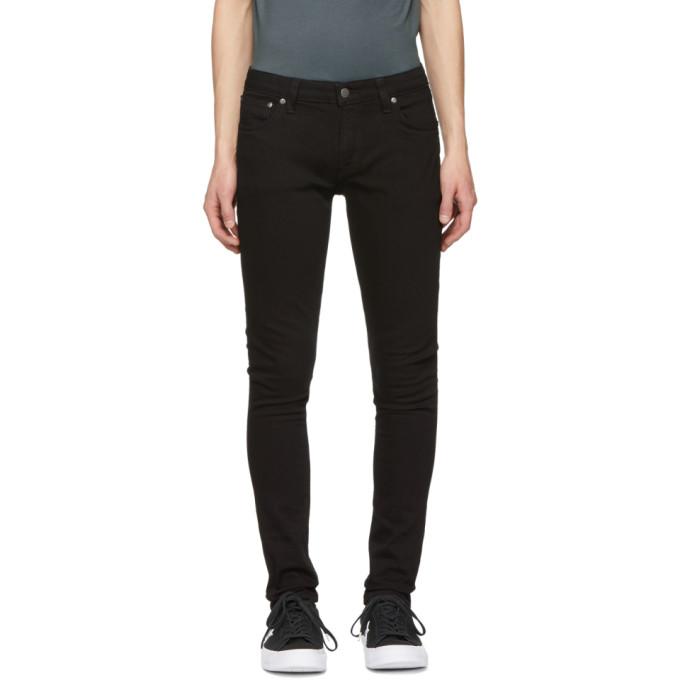 Image of Nudie Jeans Black Skinny Lin Jeans