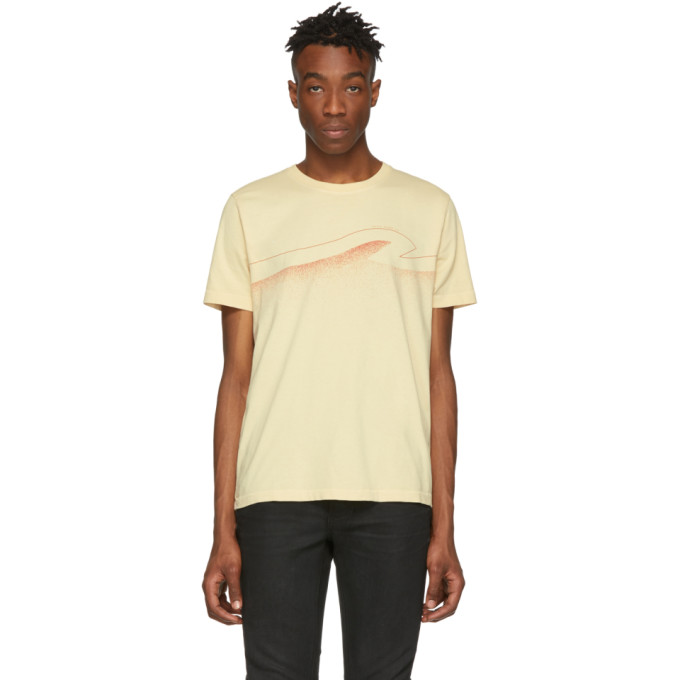 Nudie Jeans T-shirts NUDIE JEANS OFF-WHITE COLORS ROY T-SHIRT
