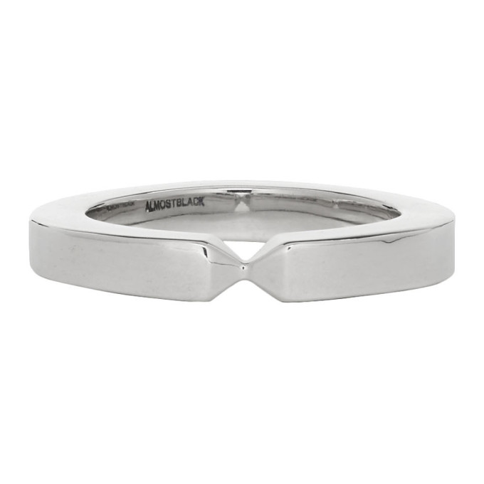 ALMOSTBLACK Silver Band Ring