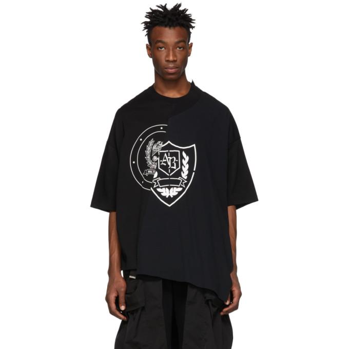 Image of ALMOSTBLACK Black Deconstructed T-Shirt