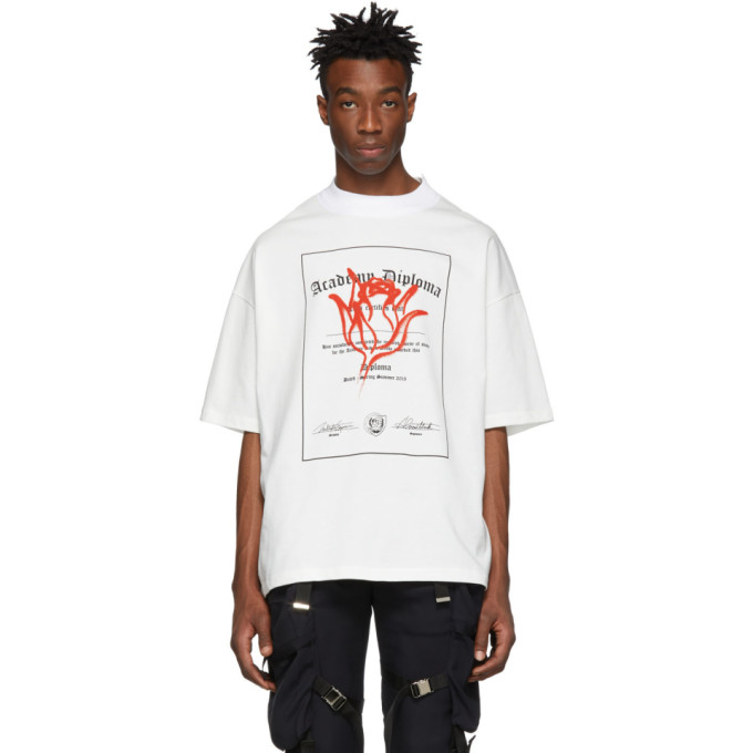 ALMOSTBLACK T-shirt blanc Flower Academy