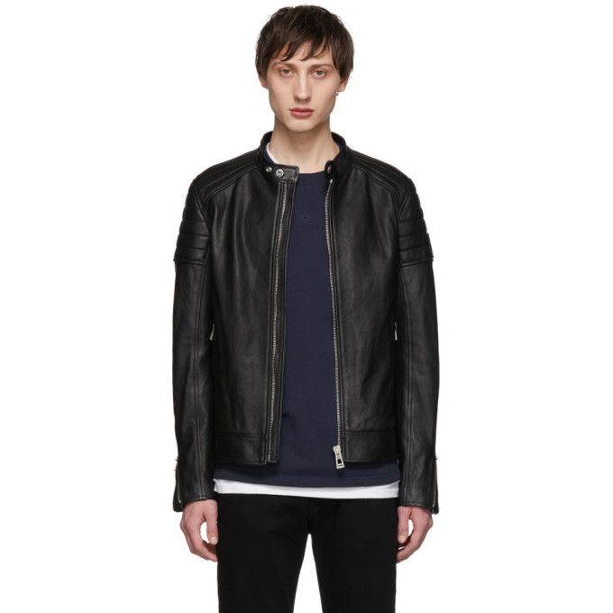 Image of Belstaff Black Lambskin Northcott Jacket