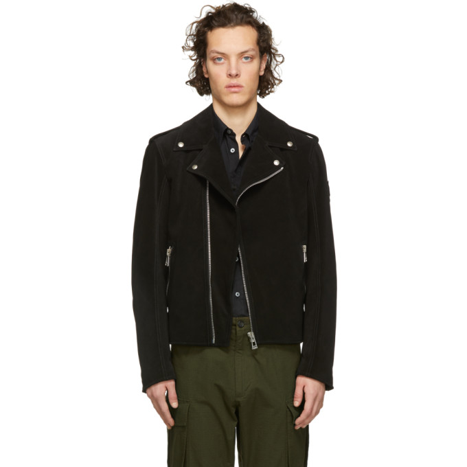 Image of Belstaff Black Suede Edmunds Jacket