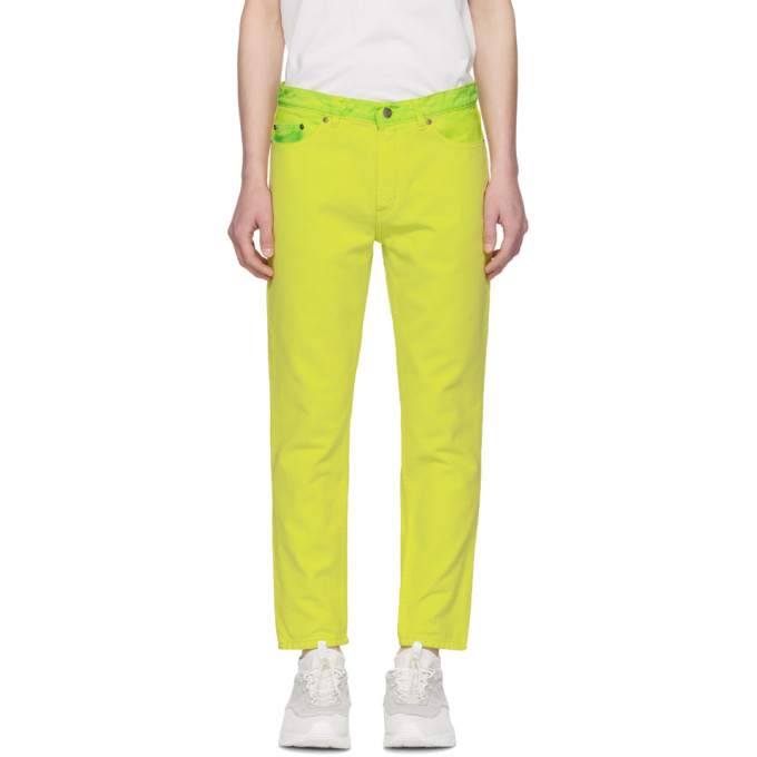 Hugo Yellow Slim Tapered Jeans 191084M18600803