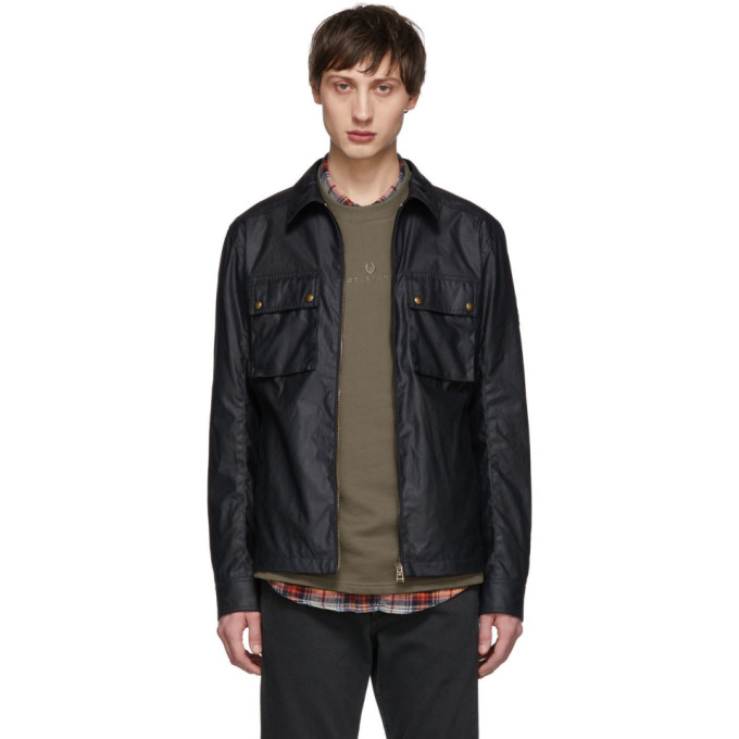 Image of Belstaff Navy Dunstall Jacket