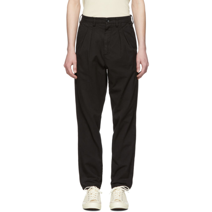 Image of Billy Black Double Pleated Trousers