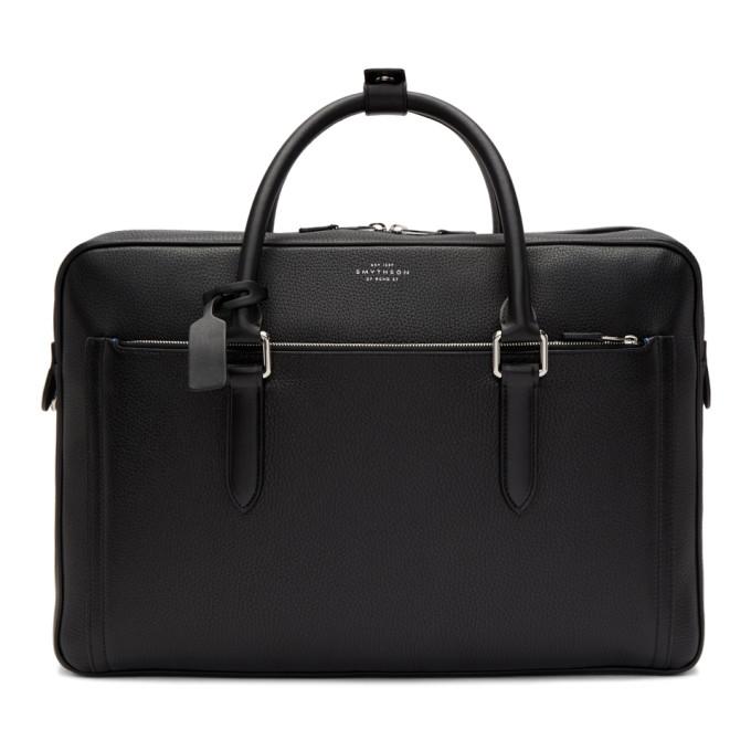 Smythson Black Burlington 24 Hour Briefcase