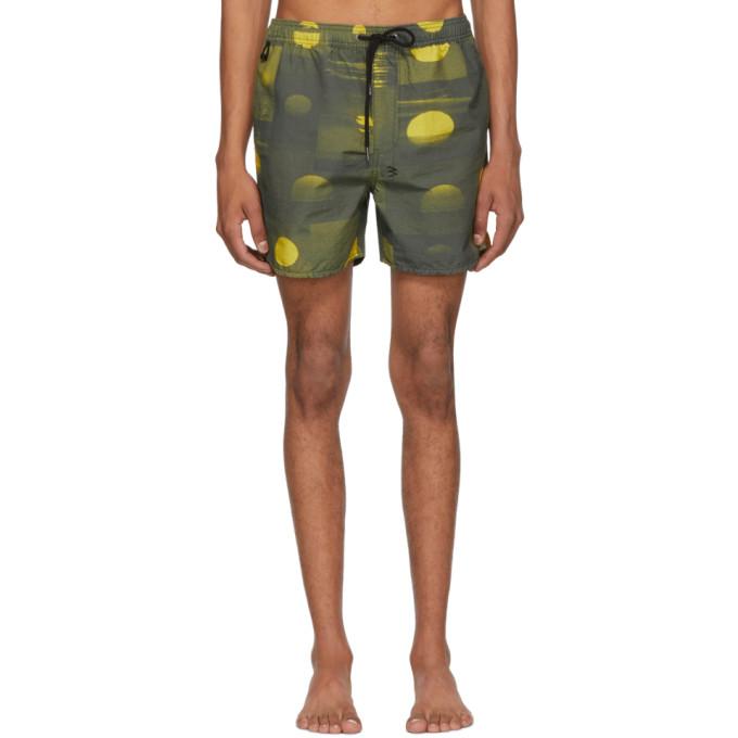 Ksubi Maillot de bain vert et jaune Vitality