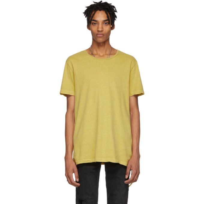 KSUBI Seeing Lines Cotton Tee in Yellow