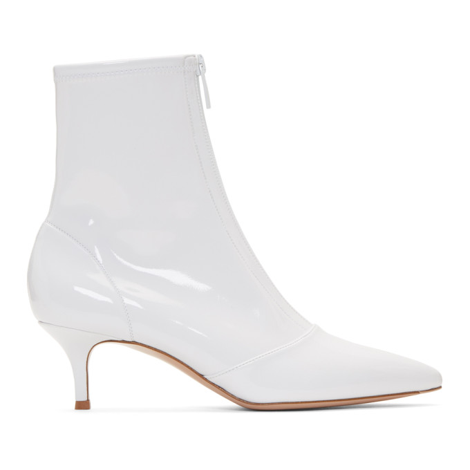 Gianvito Rossi White Welch 55 Boots